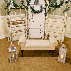 White Vintage Doors and Vintage Chaise
