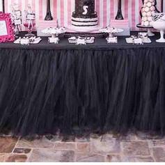 Black Tulle Table Skirt