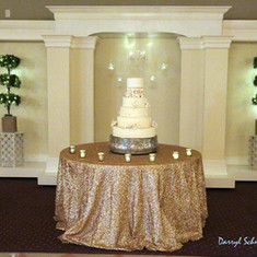 Champagne Sequin Tablelcloth