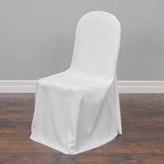 Polyester Chair Cover (white or ivory)