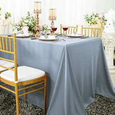 Dusty Blue Polyester Tablecloth