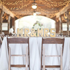 Mr & Mrs. White Light Up Letters