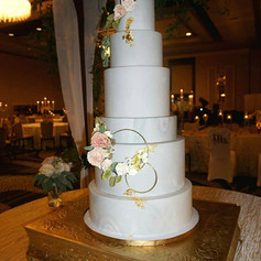 22x28 Rectangle Gold Cake Stand