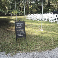 Unplugged Ceremony Iron Easel