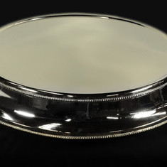 """22"""" Round Silver Cake Stand"""