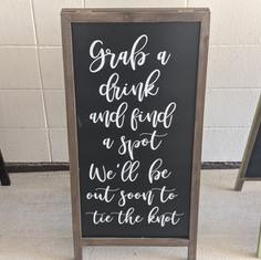 Grab a drink chalkboard Easel