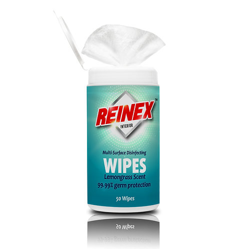 REINEX INTERIOR WIPES (50 wipes)