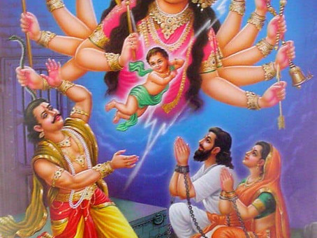 Today is not only the birthday of Krishna but also of Yogamaya.
