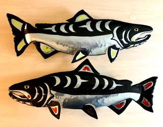 Tribal Chinook Aluminum Salmon