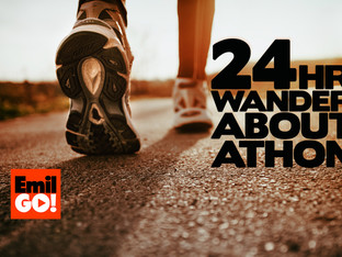 So here it is... the first challenge.... the 24hr WANDER-ABOUT-ATHON!