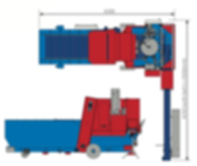 IA3500 Potting Machine Dimensions