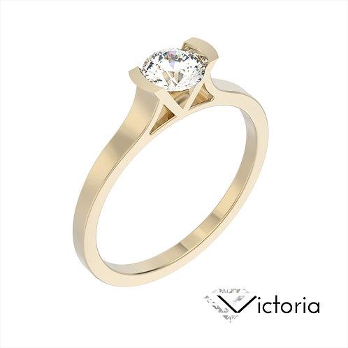Victoria pierścionek z diamentem z żółtego złota