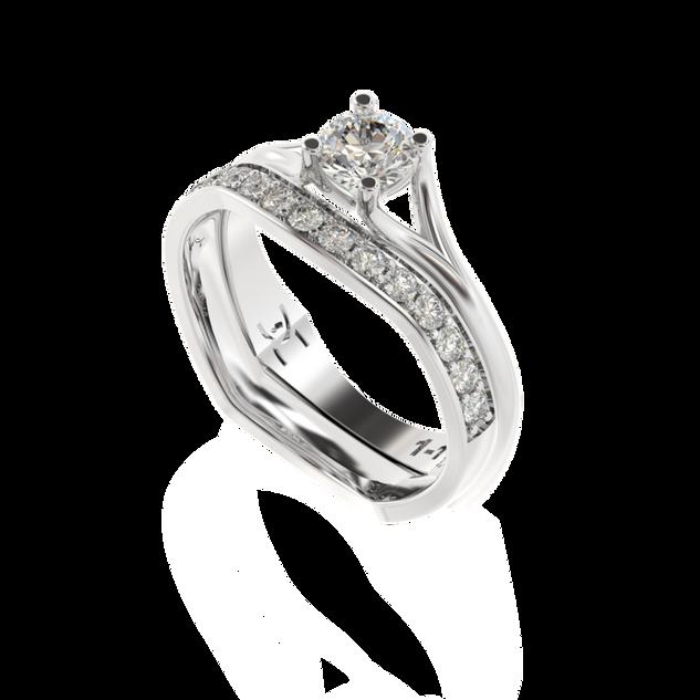 Obrączka z diamentami