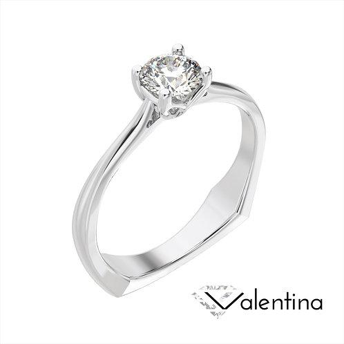 Valentina pierścionek z diamentem z platyny