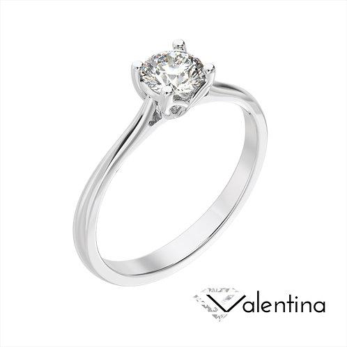 Valentina pierścionek z diamentem z białego złota