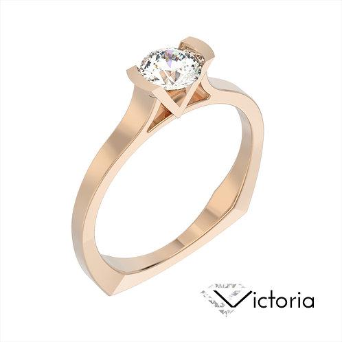Victoria pierścionek z diamentem z różowego złota