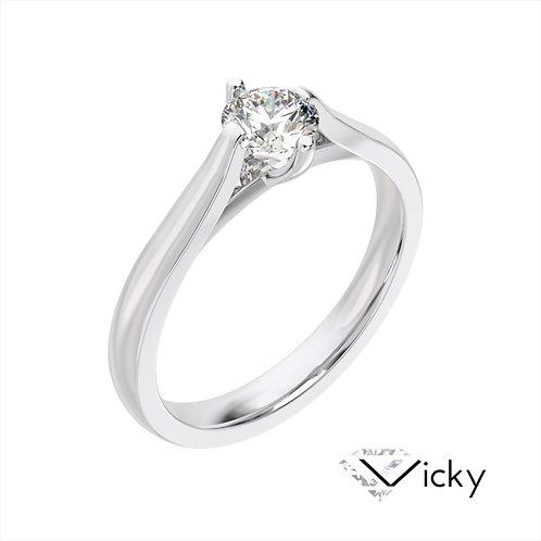 Vicky pierścionek z diamentem z platyny