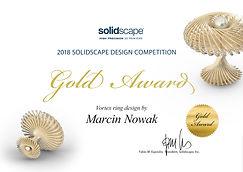 Gold Award - Solidscape Design Competiti