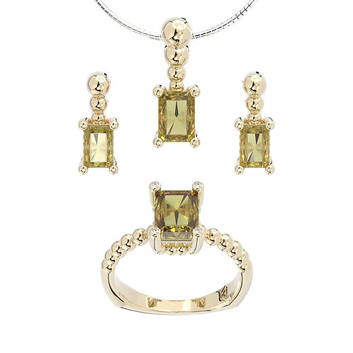 Komplet biżuterii - kolekcja Csarite z diamentami - antique cut