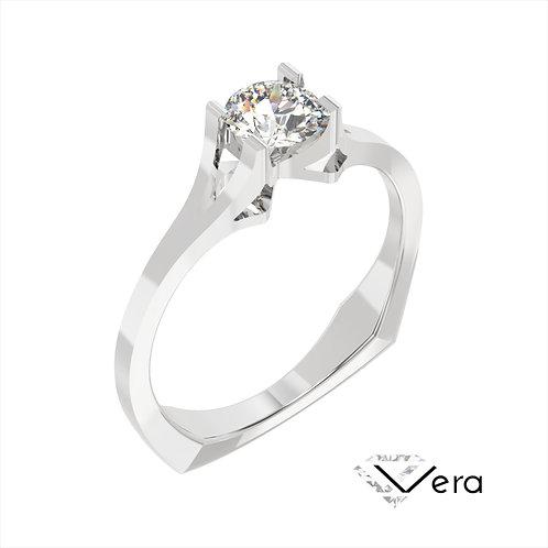 Vera pierścionek z diamentem z platyny