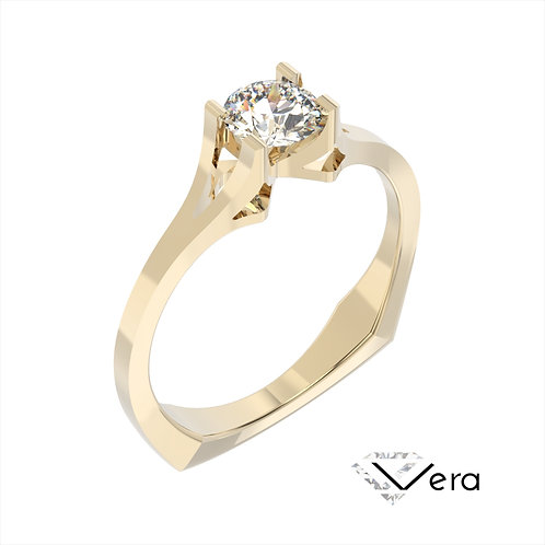 Vera pierścionek z diamentem z żółtego złota