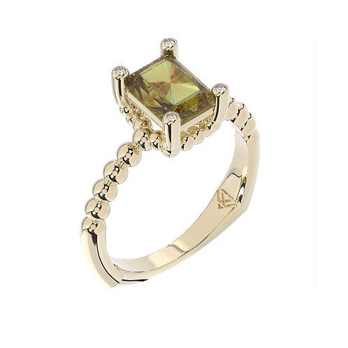 Pierścionek - kolekcja Csarite z diamentami - antique cut