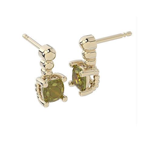 Kolczyki - kolekcja Csarite z diamentami - cushion cut