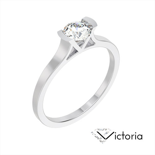 Victoria pierścionek z diamentem z platyny
