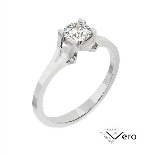 Vera pierścionek z diamentem z białego złota