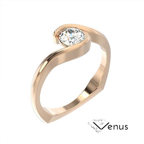 Venus pierścionek z diamentem z różowego złota