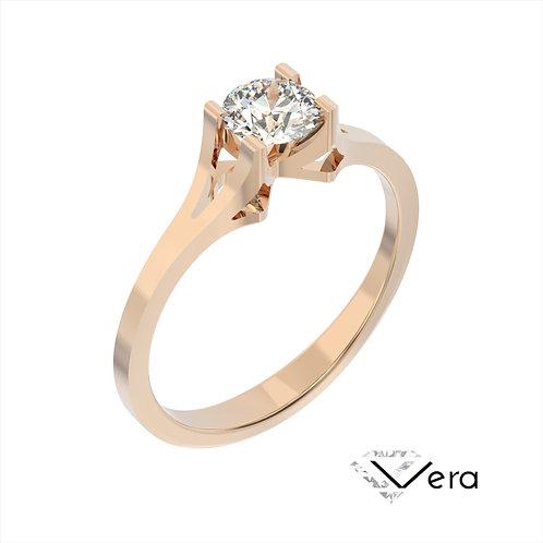 Vera pierścionek z diamentem z różowego złota