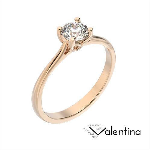 Valentina pierścionek z diamentem z różowego złota