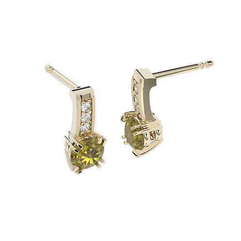 Kolczyki - kolekcja Csarite z diamentami - princess cut