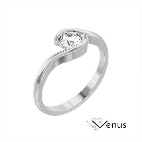 Venus pierścionek z diamentem z platyny