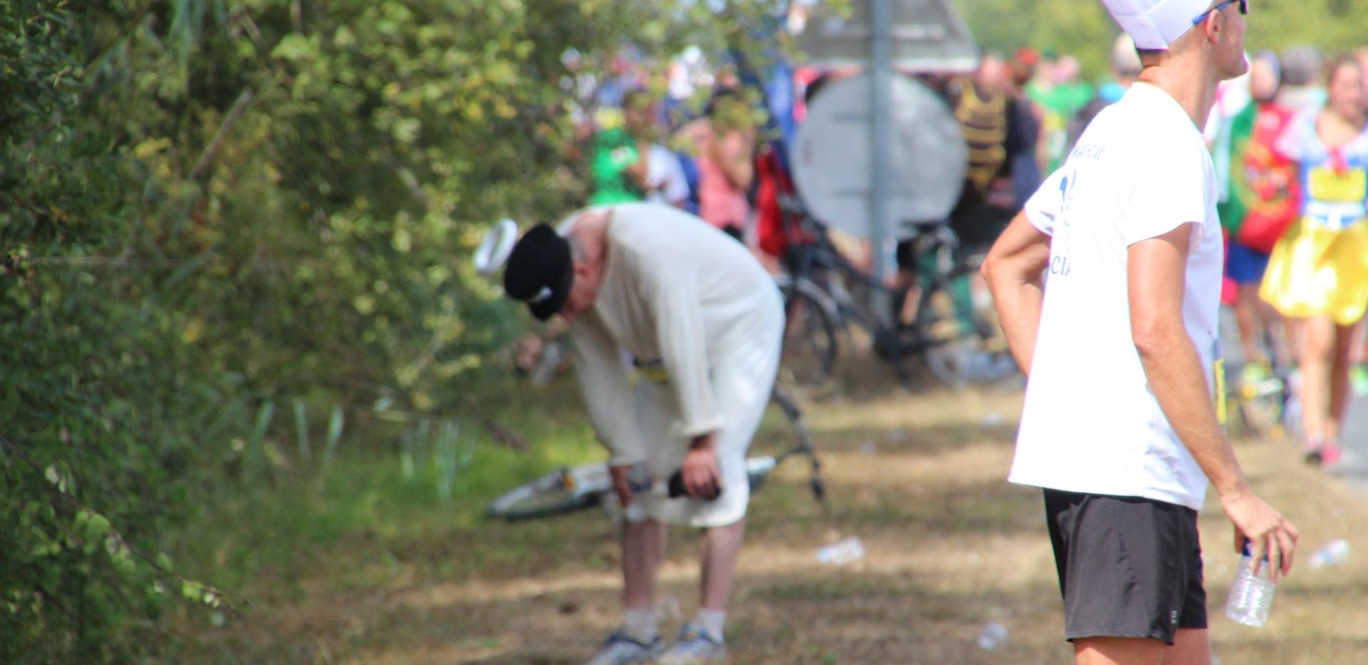 Inebriated Marathon Runner