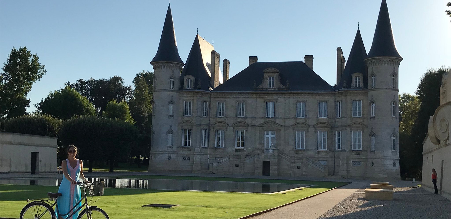 Cycling at Chateau Pichon Baron