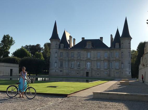 Cycling at Chateau Pichon Baron