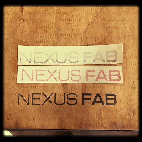 "Nexus Fab Vinyl Sticker 1""x9"" (2 pack)"
