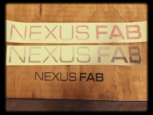 "Nexus Fab Vinyl Sticker 2""x18"""