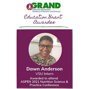 GRAND 2020-2021 Education Grant Recipien