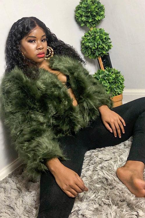 Kira Layered Shaggy Faux Fur Coat