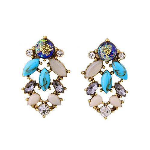 Irene Alloy Drill Set Earrings