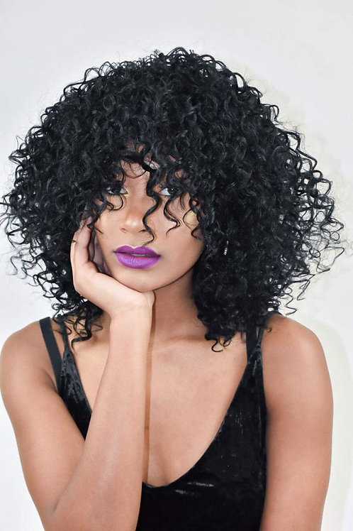 Black Afro Curly Synthetic Wig