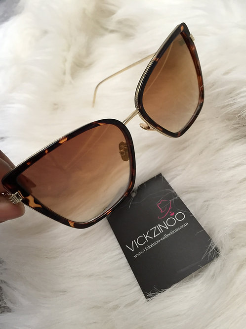 Alexandra Brown Cat Eye Sunglasses