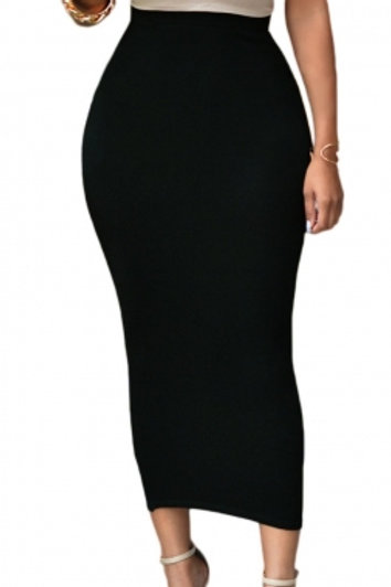 Becca High-waisted Bodycon Maxi Skirt