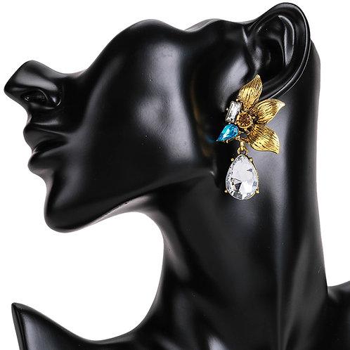 Kim Flower Gem Earring