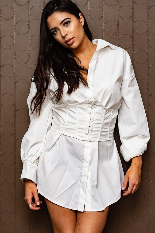 Friyay Corset Shirt Dress