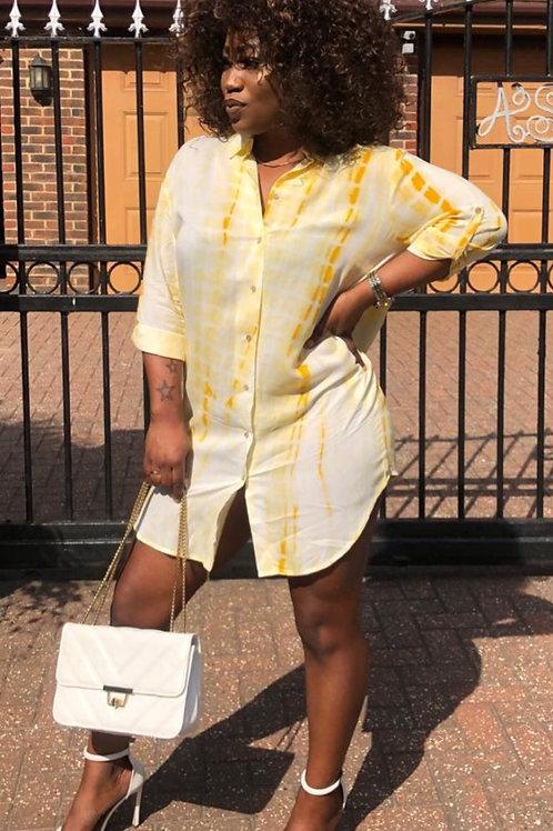 Laura Tie Dye Shirt Dress