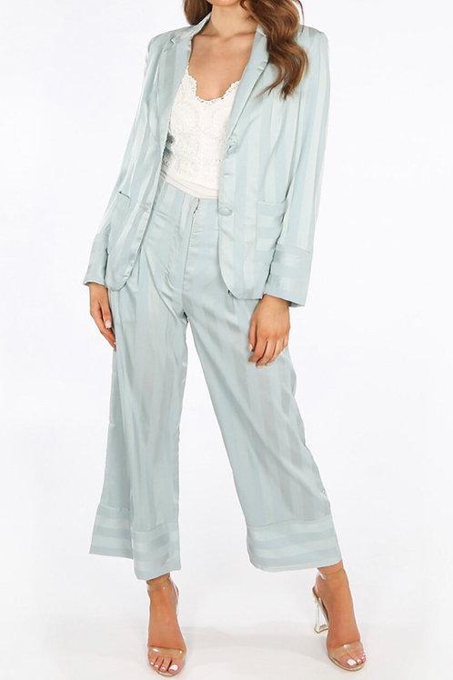 Deono Satin Blazer & Trouser Suit