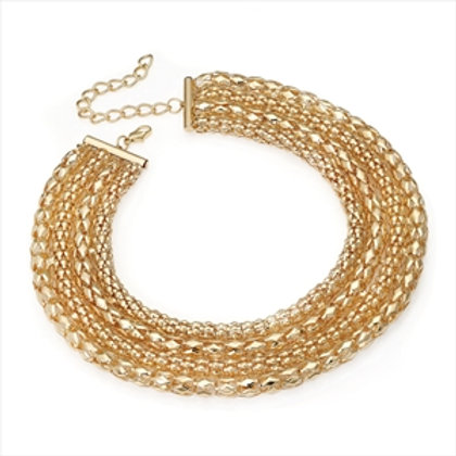 Coco Four row chain necklace